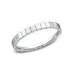 BENCHMARK Ladies 14k White Gold Wedding Band 62901W