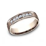 BENCHMARK Mens Rose Gold Wedding Band RECF516516R