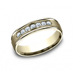 BENCHMARK Mens 14k Yellow Gold Wedding Band RECF516516Y