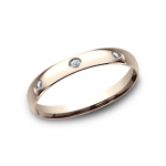 BENCHMARK Ladies Rose Gold Wedding Band LCF130DR