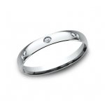 BENCHMARK Ladies White Gold Wedding Band LCF130DW