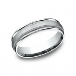 BENCHMARK Mens Palladium Wedding Band RECF7601SPD