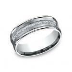 BENCHMARK Mens 14k White Gold Wedding Band CF717593W