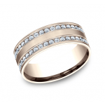 BENCHMARK Ladies Rose Gold Wedding Band CF528551R