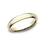 CLASSIC Mens Yellow Gold Wedding Band HDCF130Y