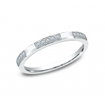 BENCHMARK Ladies White Gold Wedding Band 522851W