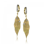18K TWO TONE GOLD DE264 EARRING