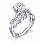 Round Brilliant Engagement Ring + Band
