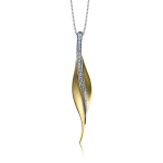 18K TWO-TONE  GOLD DP113-Y PENDANT