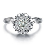 Floral Assembled Diamond Ring