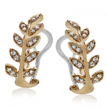 18K GOLD ROSE LE2309 EARRING