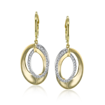 18K GOLD TWO TONE LE2314-Y EARRING