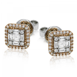 18K TWO-TONE GOLD LE4452 EARRING