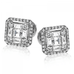 18K GOLD WHITE LE4453 EARRING