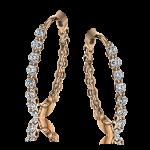 18K GOLD ROSE LE4546-R HOOP EARRING
