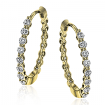 18K GOLD YELLOW LE4546-Y HOOP EARRING