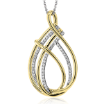 18K GOLD TWO TONE LP2393-Y PENDANT