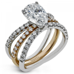 18K GOLD TWO TONE  LR1083-PR WEDDING SET