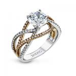 18K WHITE & ROSE GOLD, WITH WHITE DIAMONDS. LR2125 - ENGAGEMENT RING
