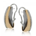 18K GOLD TWO-TONE ME1577 EARRING
