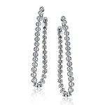18K WHITE GOLD, WITH WHITE DIAMONDS. ME2102 - HOOP EARRING