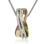 18K WHITE & YELLOW & ROSE GOLD, WITH WHITE DIAMONDS. MP1900 - PENDANT