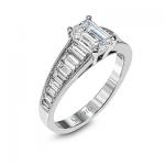 18K GOLD WHITE MR2393 ENGAGEMENT RING