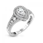 18K WHITE GOLD, WITH WHITE DIAMONDS. MR2592 - ENGAGEMENT RING