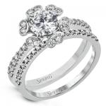 18K WHITE GOLD, WITH WHITE DIAMONDS. MR3056 - WEDDING SET