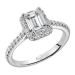 Emerald Cut Diamond Halo Ring