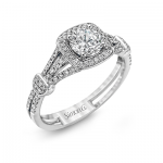 18K WHITE GOLD, WITH WHITE DIAMONDS. TR418-D - ENGAGEMENT RING