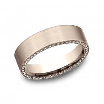 BENCHMARK Mens Rose Gold Wedding Band CF8465396R