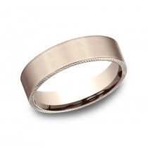 BENCHMARK Mens Rose Gold Wedding Band CF7165217R