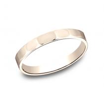 BENCHMARK Ladies 14k Rose Gold Wedding Band 72025R