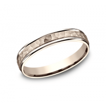 BENCHMARK Mens Rose Gold Wedding Band CF154303R