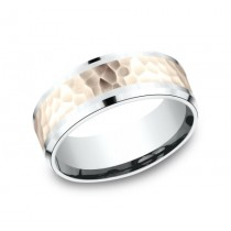 BENCHMARK Mens Two-Tone Wedding Band CF228591