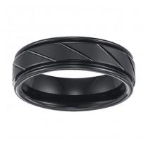 Black Tungsten Bands