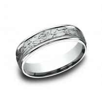 BENCHMARK Mens White Gold Wedding Band RECF846374W