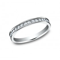 BENCHMARK Ladies 14k White Gold Wedding Band 513523LGW