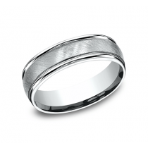 BENCHMARK Mens Platinum Wedding Band RECF76044PT