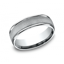 BENCHMARK Mens Platinum Wedding Band RECF77470PT