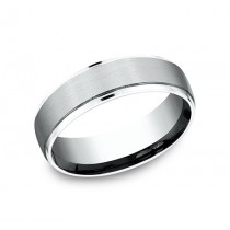 BENCHMARK Mens White Gold Wedding Band CF496502SW