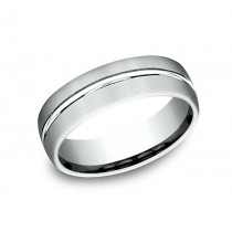 BENCHMARK Mens White Gold Wedding Band CF4965411W
