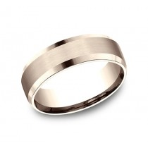 BENCHMARK Mens Rose Gold Wedding Band CF4965416R