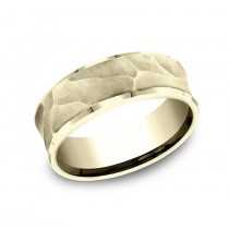 BENCHMARK Mens 14k Yellow Gold Wedding Band CF498747Y