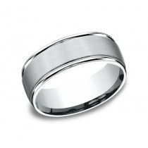BENCHMARK Mens Platinum Wedding Band RECF7802SPT