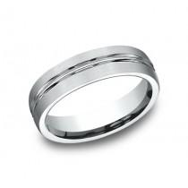 BENCHMARK Mens Platinum Wedding Band CF56411PT