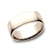 CLASSIC Mens 14k Rose Gold Wedding Band EUCF190R