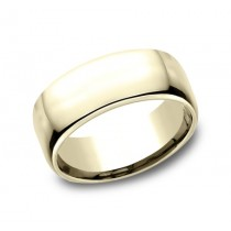 CLASSIC Mens Yellow Gold Wedding Band EUCF190Y