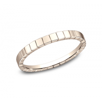 BENCHMARK Ladies Rose Gold Wedding Band 62901R